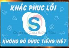 Cách sữa lỗi skype không gõ được tiếng Việt đơn giản nhất