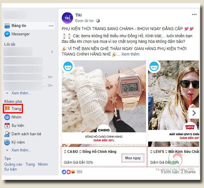 Xem các trang đã like trên facebook từ trình duyệt trên máy tính
