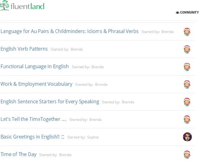 Ứng dụng nói chuyện với người nước ngoài Fluentland có rất nhiều chủ đề