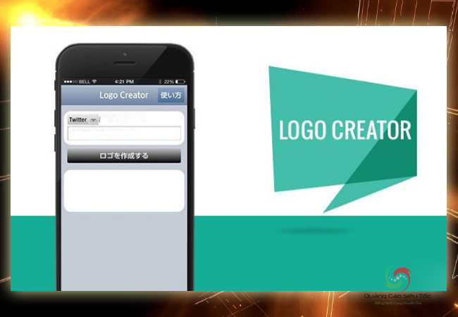 Ứng dụng thiết kế logo cho phép chia sẻ lên mạng xã hội