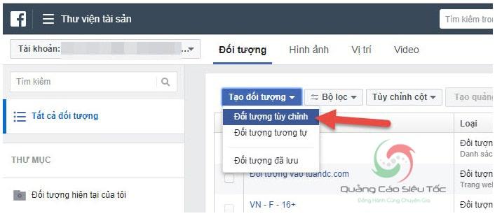 Upload email và sđt lên Facebook để chạy quảng cáo