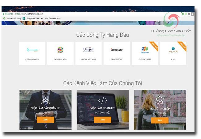trang web tuyển dụng vietnamworks