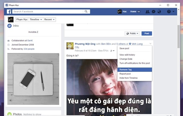 Xóa Ảnh Nhanh Chóng Trên Trang Facebook Cá Nhân