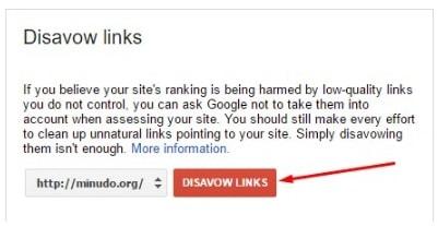 Xóa Các Backlink Bẩn Với Disavow Links