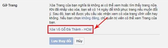 xóa fanpage trên facebook