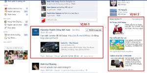 Vị trí quảng cáo trên Facebook