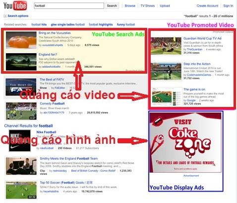 Quảng Cáo Youtube Giá Rẻ - Vị trí quảng cáo 2