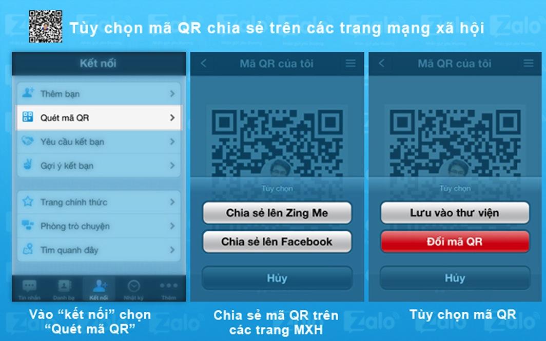 Chia sẻ mã QR với bạn bè