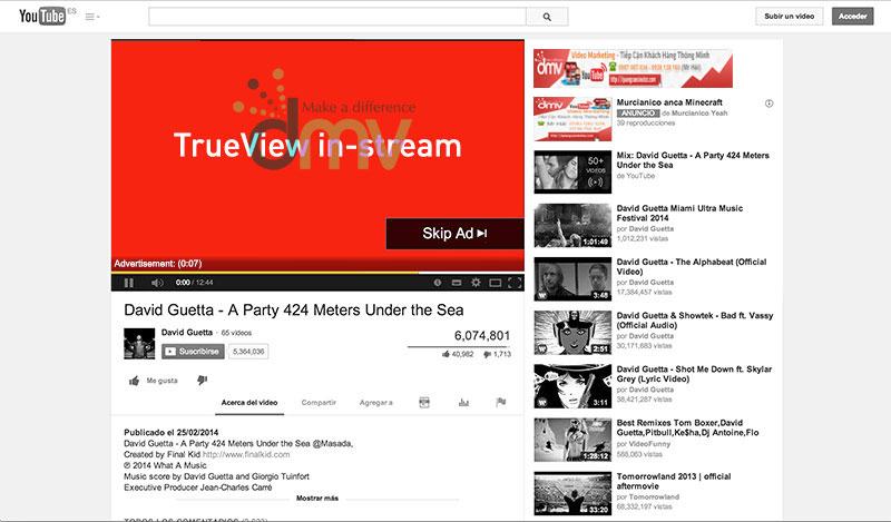 Quảng cáo Youtube TrueView In-stream