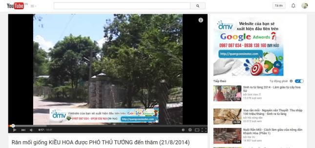Vị trí hiển thị quảng cáo Remarketing trên Youtube