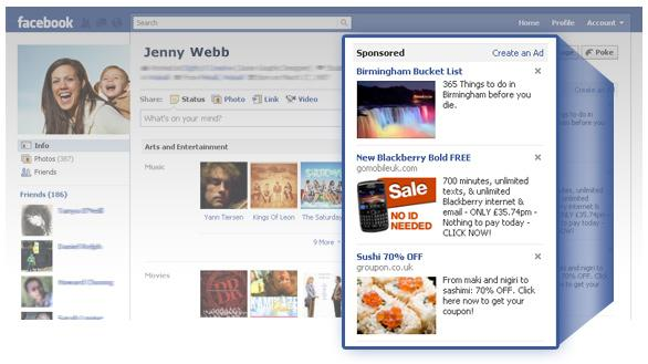 Quảng cáo Facebook Cột phải