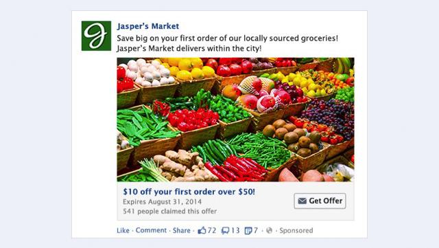 Mẫu minh hoạ hình ảnh quảng cáo Facebook cho các chương trình ưu đãi