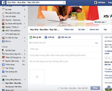 ban hang truc tuyen tren cac group rao vat facebook